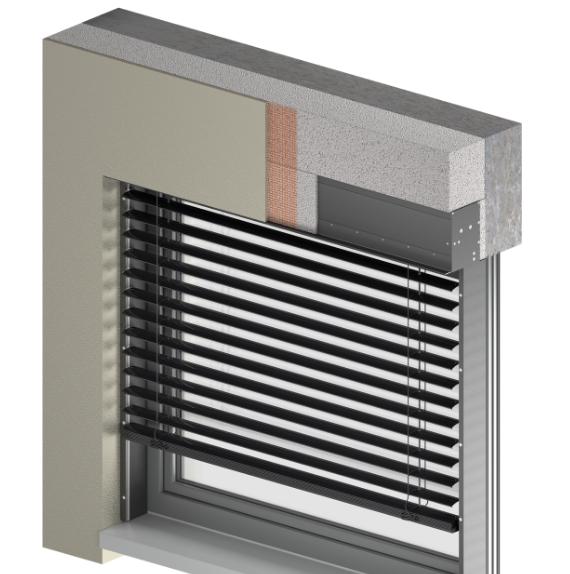 Raffstoff intergrierbar / System BOX