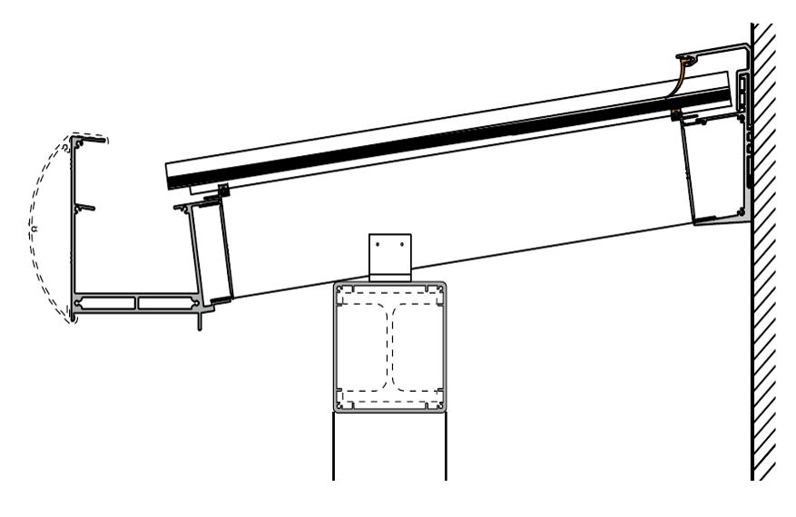 Variante 2 Pultdach mit Überstand